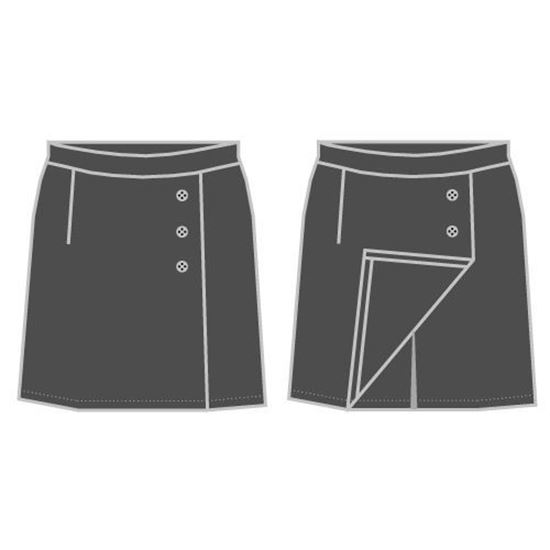 Picture of Skirt/shorts with buttons (Gray)